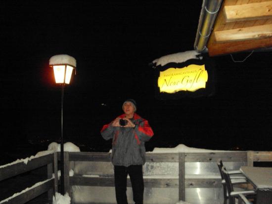 Tulfes, Austria: Arrival on the decks of the chalet