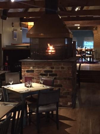 The Green Man: roaring open fire