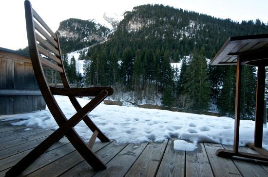 Les Chalets de la Serraz: Terrasse