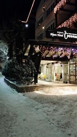 Alpen Hotel Corona Sport & Wellness: La prima neve di dicembre 2014