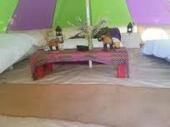 The Old Forge Glamping: Bell tent