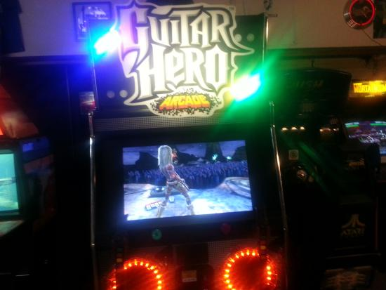 Blue Devil's Challenge Arcade: yes! guitar hero do a dual find out who's the real Joe Satriani