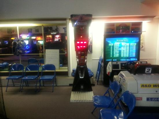 Blue Devil's Challenge Arcade: Are you a boxer or race car driver?