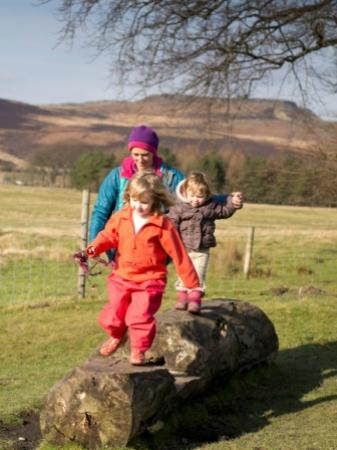 Peak District National Park, UK: Family walks at Longshaw