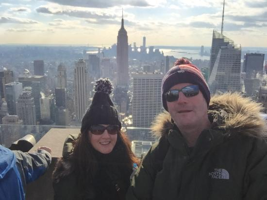 fun with a selfie stick picture of top of the rock observation deck new york city tripadvisor. Black Bedroom Furniture Sets. Home Design Ideas