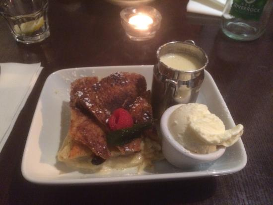 Riva Brasserie: Bread and butter pudding fit for a king - tastes as well as it looks mmmm