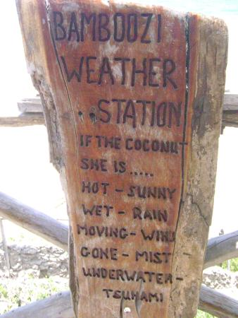 Bamboozi Beach Lodge: Weather Station