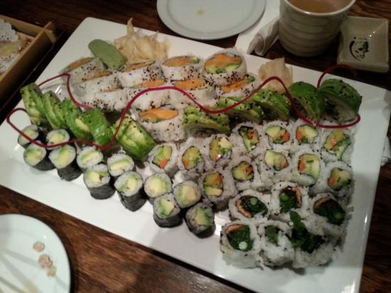 Wasabi Japanese Restaurant and Sushi Bar: Vegan Sushi New Years Eve Dinner 2014