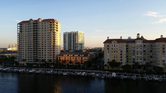 Tampa Marriott Waterside Hotel Marina View Of Harbor Island From Balcony