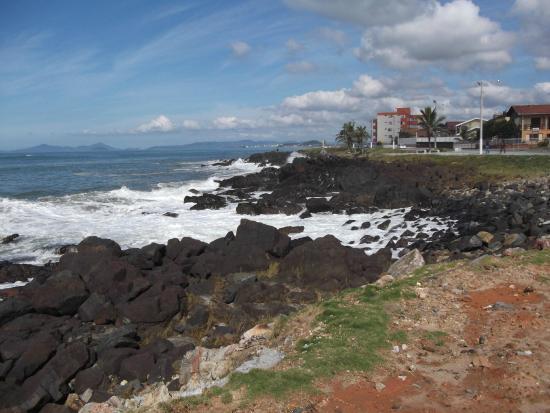 Barra Velha, SC: Costão dos Náufragos vista Sul