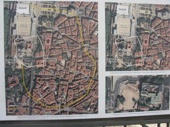Muralla Árabe: Plano de la muralla original