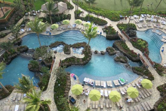 Hyatt Residence Club Maui Ka Anapali Beach View From 11th Floor South End