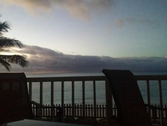 Maxwell Beach Apartments: La terrazza e la vista che avevamo tutti i giorni