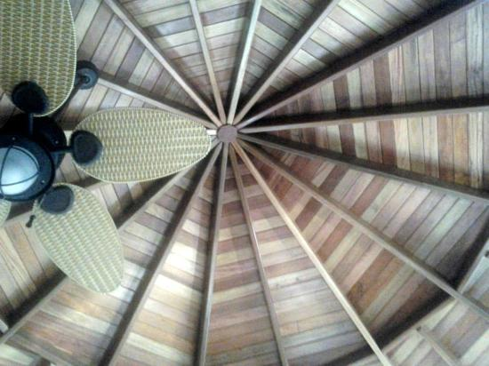 Ceiling in cabana room