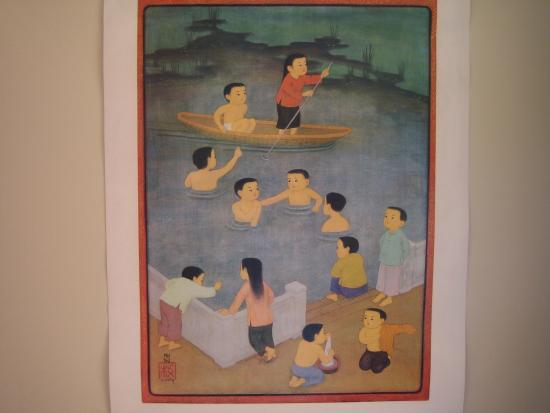 bambou lodge la chambre asiatique enfants dans l 39 eau picture of bambou lodge genneville. Black Bedroom Furniture Sets. Home Design Ideas