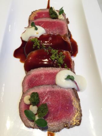 Restaurant l'Alianca d'Angles: Tataki de entrecotte.