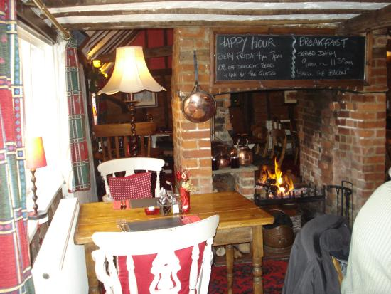 The Axe and Compasses: A cosy welcoming  fire