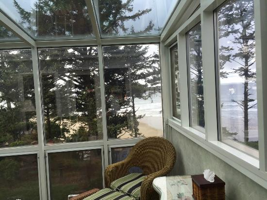 Ocean House Bed and Breakfast: View from the sunroom in The Sea Rose