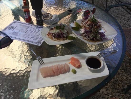 Product C: Amazing sashimi and fish tacos! Addicted!