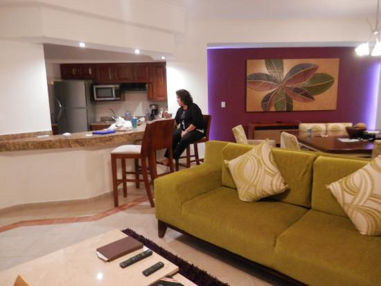 Living Room Kitchen And Dining Picture Of Hotel Marina El Cid Spa Beach Resort Puerto