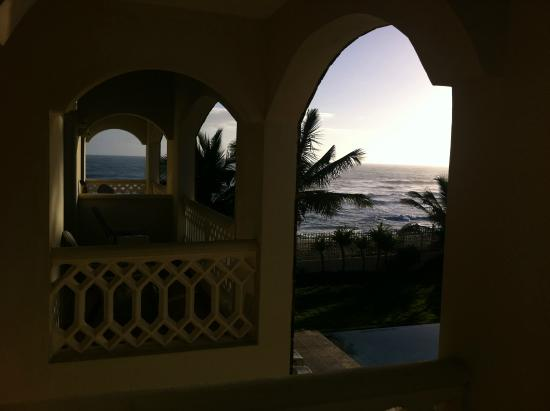 Barefoot Beach Pad: View from our balcony at sunrise