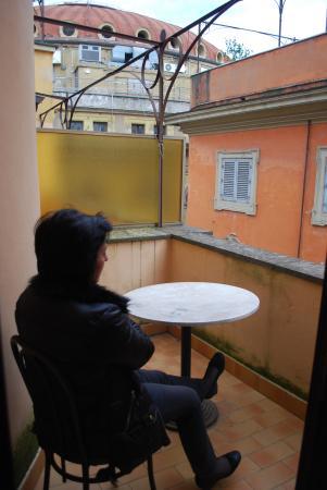 Hotel Centro Roma: Um pequeno terraço