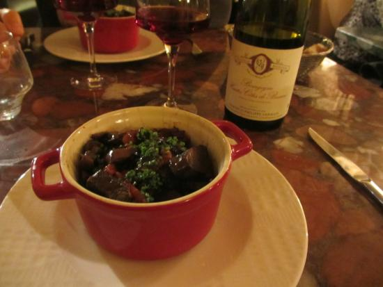 Chateau de Challanges : Beef Bourguignon in Burgundy is a must