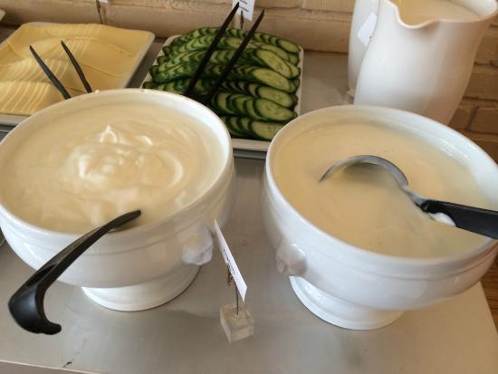Vanadis Hotell & Bad: Café da manhã com o maravilhoso iogurte