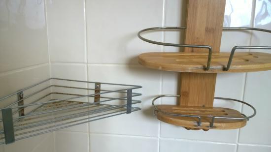 rusty shower holder picture of diamond island resort. Black Bedroom Furniture Sets. Home Design Ideas