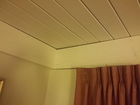 Days Inn Davis Near UC Davis: lots of cracks and crevices in ceilings