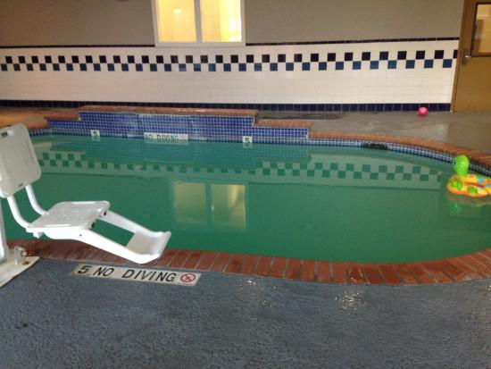 Flooded pool picture of country inn suites by carlson houston intercontinental airport east for Public indoor swimming pools houston