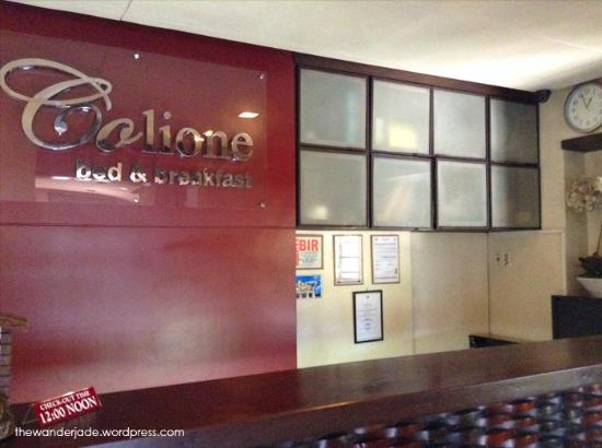 Colione Bed and Breakfast: Reception area