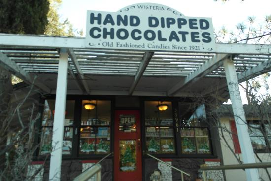 Boulevard, CA: The front entrance to chocolate heaven.