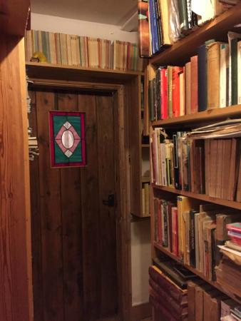 Sanctuary Bookshop and Booklover's B&B: ドアのまわりにも本