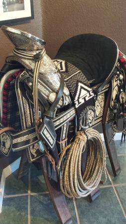 Borjon Winery: Saddles in the Tasting Room