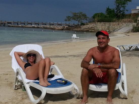 Pristine Bay Resort: Private beach