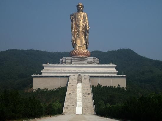 Lushan County, China: Spring Temple Buddha