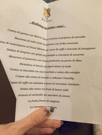 Hotel Letizia: Carta dessert