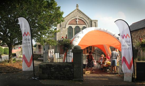 Devon Guild of Craftsmen: Our free craft ArtsWave Devon tent at Nourish food and craft festival in Bovey Tracy