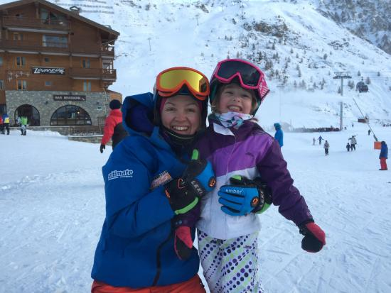 Ultimate Snowsports Tignes: Floss and Freya 5.5 years