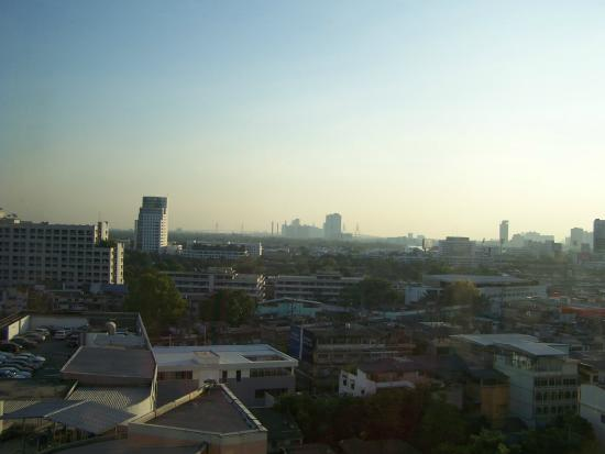 President Park Bangkok: Window view of the Bangkok skyline from the 14th floor