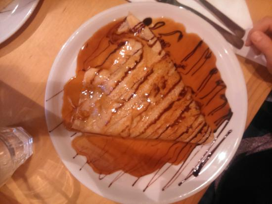 El Restaurante Mexico: Pancake with peanut butter,nutella,crocants and caramel.