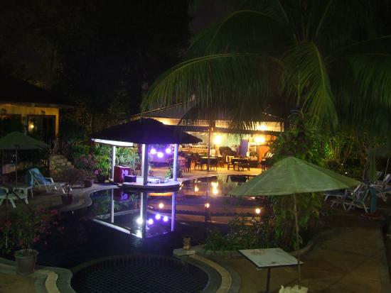 The Hill Resort: View of pool at night