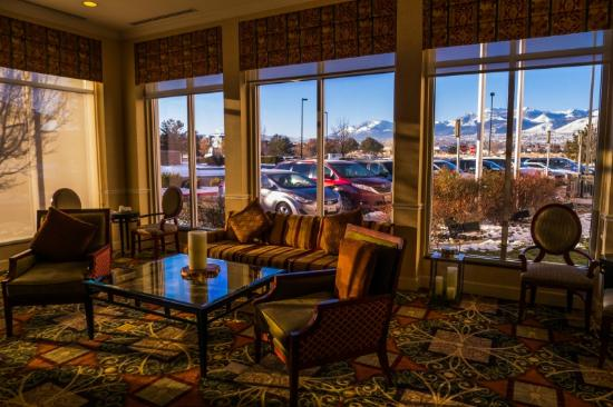 Superb Hilton Garden Inn Reno: View From Lounge Of Hotel Lobby Good Looking