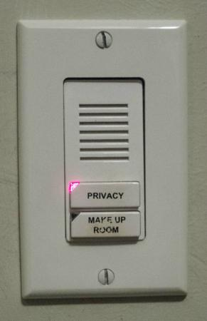 Sandals Halcyon Beach Resort: Check your privacy light. If its on, no housekeeping!