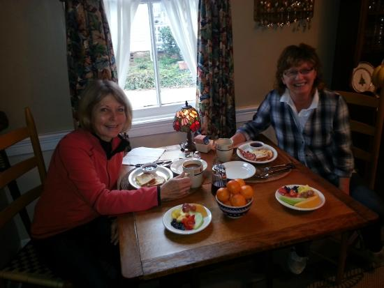 The Captain's Stay: Breakfast, with a huge plate of fruit each day