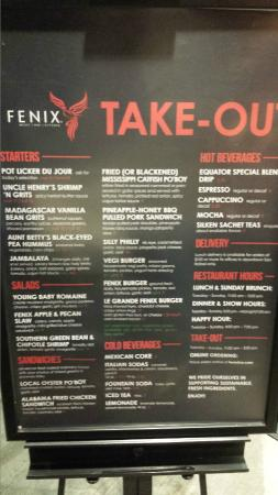 Fenix: Great food you won't see elsewhere.