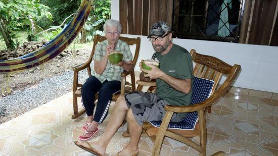 Cabinas Iguana: Frische Cocosnuss