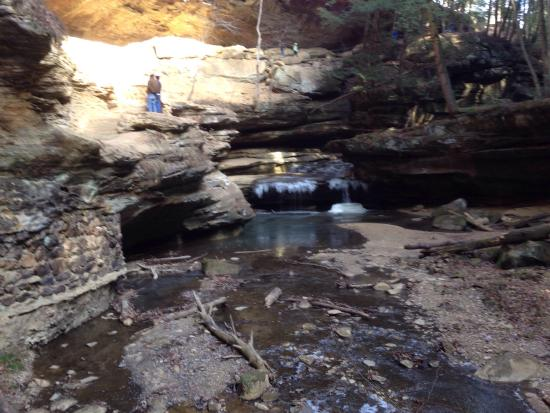 Logan, OH: Below Old Man's Cave from Lower Falls