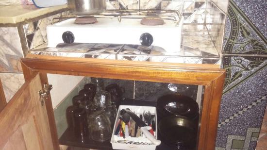 El Paraiso Apart Hotel : Cocina equipada